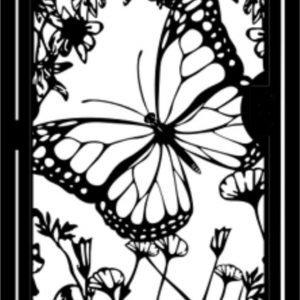 Metal art gate, Butterfly, 3' x 5'