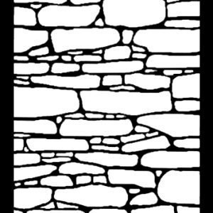 Metal decorative panel - Stones - 3' x 4'