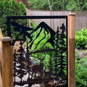 Metal gate - Deer - 5' x 4'