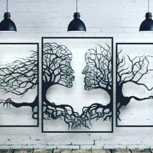Tree of love,3 Metal Panels 48'' x 30
