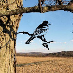 Baltimore Oriole Metal Tree /Metal Birds / metal birds/ /Tree Bird/Yard art