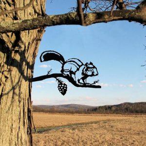 Chipmunk Metal Tree /Metal Birds / metal birds/ /Tree Bird/Yard art