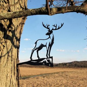 Deer Metal Tree /Metal Birds / metal birds/ /Tree Bird/Yard art