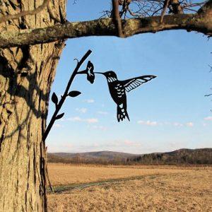 Hummingbird Metal Tree /Metal Birds / metal birds/ /Tree Bird/Yard art