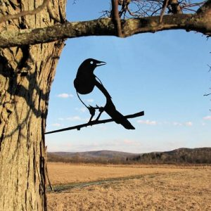 Magpie Metal Tree /Metal Birds / metal birds/ /Tree Bird/Yard art