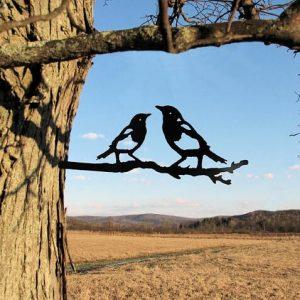 Magpie Metal Tree /Metal Birds / metal birds/ /Tree Bird/Yard art
