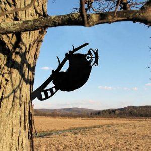 Raccoon Metal Tree /Metal Birds / metal birds/ /Tree Bird/Yard art
