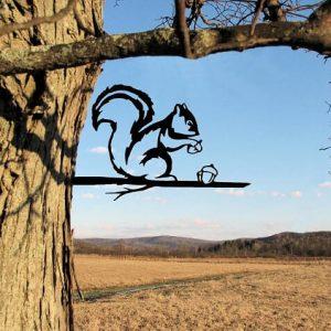 Squirrel Metal Tree /Metal Birds / metal birds/ /Tree Bird/Yard art