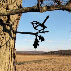 Wren Metal Tree /Metal Birds / metal birds/ /Tree Bird/Yard art