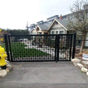 Metal gate with metal frame, driveway gate 6'x4'