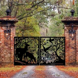Metal Garden Driveway Gate | Custom Entry Metal Gates | Modern Gate/ Opening 120''x60''