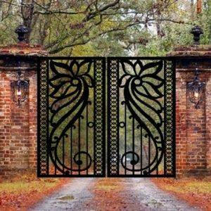 Pedestrian Walk Thru Metal Entry Gate   Metal Fence Gates 3'x5 Double Gate