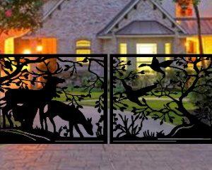 Pedestrian Walk Thru Metal Entry Gate   Metal Fence Gates 3'x3' Double Gate