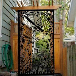 Dragonfly Entry Gate   Garden Metal Gate   Decorative Pedestrian Gate 3x5'
