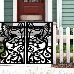 Hummingbird Entry Gate   Garden Metal Gate   Decorative Pedestrian Gate 48''x48''