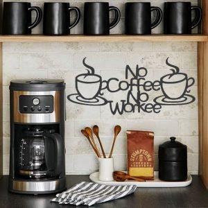 Coffee Bar Metal Wall Sign, Coffee Metal Wall Art, Coffee Sign, Coffee Bar Sign, Love Coffee
