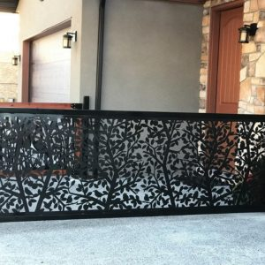 Tree Branch Metal Iron Railings   Made From Steel With Metal HSS Tubing 6'x42''
