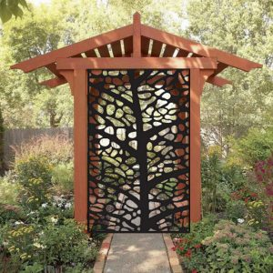 Metal Privacy Screen Decorative Panel Outdoor Garden Fence Art for Sale 3'x5'