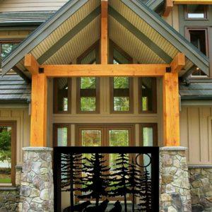 Beautiful Design Wolfs Metal Garden Gate   Wrought Iron Gates   Fence Gate 4'x4' Metal Frame
